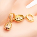 Trendy new jewelry microset zircon shell earrings wholesale nihaojewelry NHYL234148