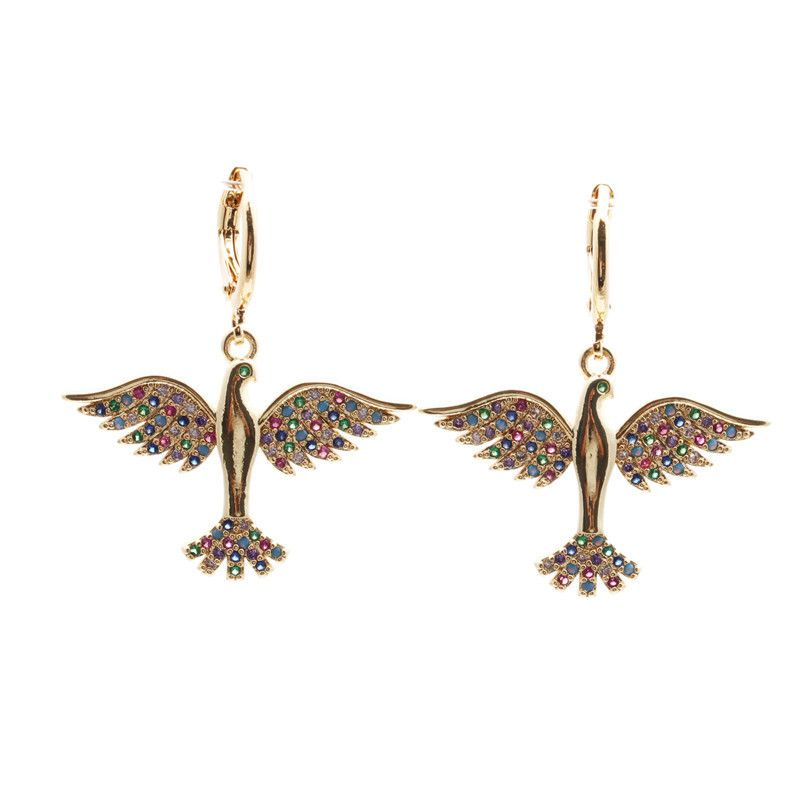 jewelry earrings hot sale earrings micro-set zircon peace dove earrings wholesale nihaojewelry NHYL234151