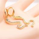 jewelry earrings hot sale earrings micro inlaid zircon snake earrings wholesale nihaojewelry NHYL234152