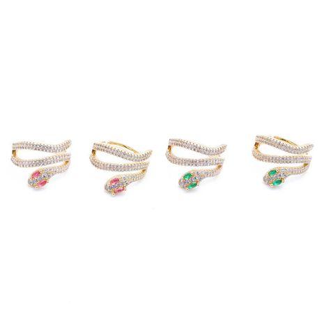 bijoux bague couleur bijou serpent bague bohème bague zircon gros nihaojewelry NHYL234157's discount tags