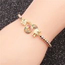 Trendy jewelry microset zircon flying dragon adjustable ladies bracelet wholesale nihaojewelry NHYL234164