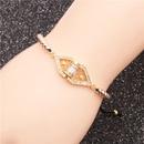 Trendy new products jewelry microset zircon copper adjustable ladies bracelet wholesale nihaojewelry NHYL234165