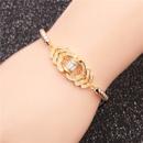 Trendy new products jewelry microset zircon adjustable ladies bracelet wholesale nihaojewelry NHYL234168