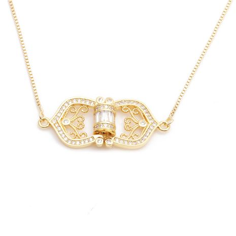 fashion jewelry micro-set zircon arrow five-star triangle necklace ladies necklace wholesale nihaojewelry NHYL234177's discount tags