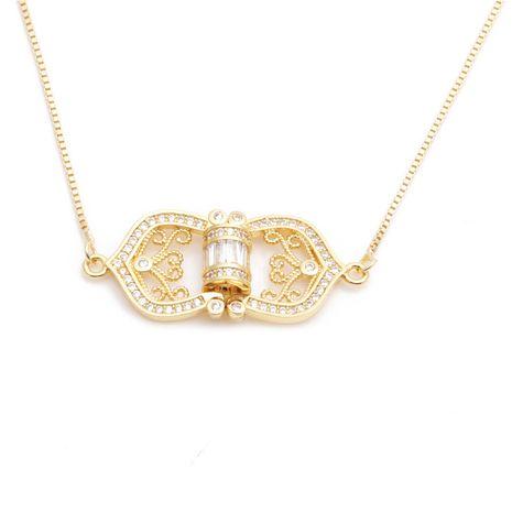 bijoux de mode micro-ensemble zircon flèche cinq étoiles triangle collier dames collier en gros nihaojewelry NHYL234177's discount tags