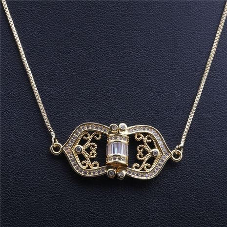 bijoux de mode tendance nouveaux produits micro-incrusté zircon flèche cinq étoiles triangle collier en gros nihaojewelry NHYL234179's discount tags