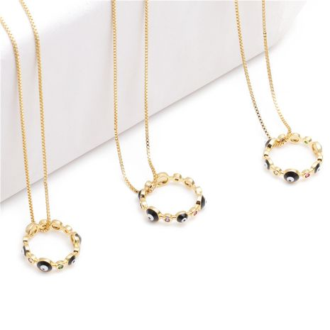 jewelry micro-set zircon ring necklace ladies necklace Copper Necklace wholesale nihaojewelry NHYL234182's discount tags