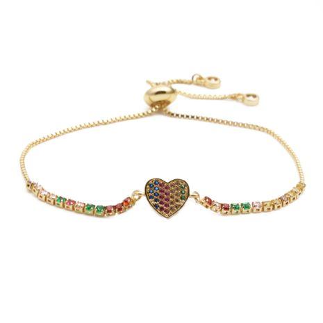 bijoux de mode cuivre micro incrustation de zirconium amour réglable hommes et femmes bracelet cadeau en gros nihaojewelry NHYL234201's discount tags