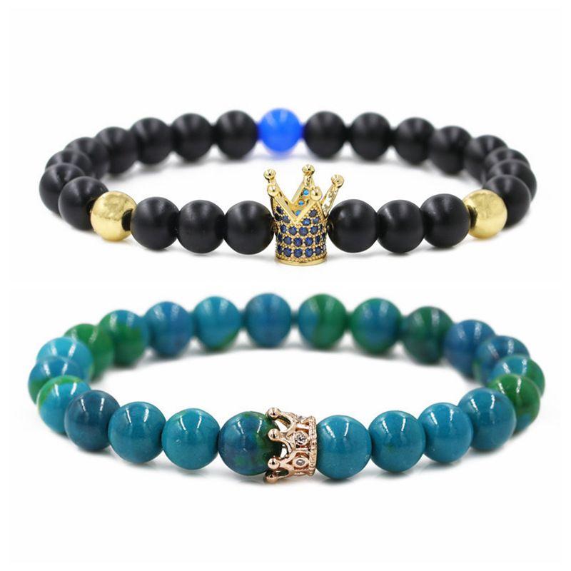 Hot Selling Jewelry Phoenix Stone Matte Stone Couple Bracelet Beaded DIY Bracelet wholesale nihaojewelry NHYL234221