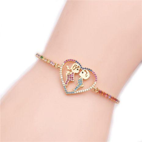 hot sale micro-set color zirconium crown couple adjustable bracelet wholesale nihaojewelry NHYL234224's discount tags