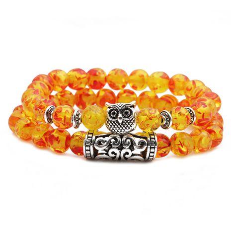 hot sale blue amber owl elbow couple bracelet beaded DIY bracelet wholesale nihaojewelry NHYL234228's discount tags