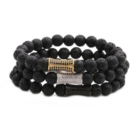 Vente chaude pierre volcanique petite taille bracelet perlé DIY hommes dames bracelet en gros nihaojewelry NHYL234229's discount tags