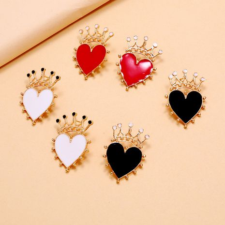 fashion trend fashion new heart-shaped crown earrings simple retro bohemian drop earrings wholesale nihaojewelry NHKQ234244's discount tags