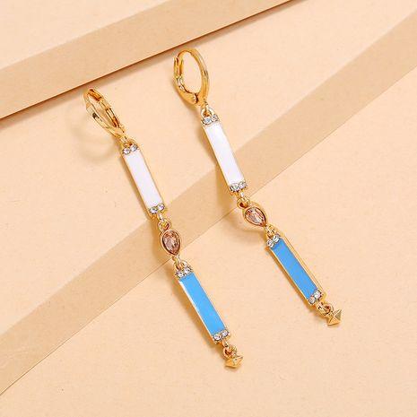 Coréen hit couleur boucles d'oreilles longues gland simples rétro diamant boucles d'oreilles en gros nihaojewelry NHKQ234248's discount tags