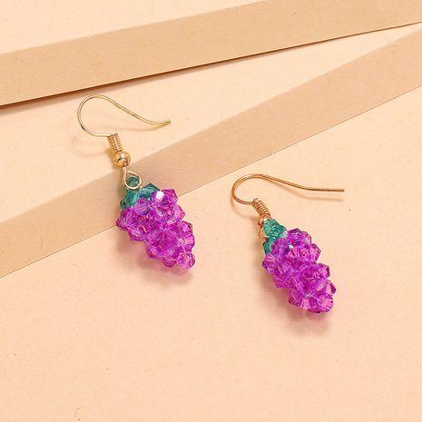 Mode coréenne exquise super fée boucles d'oreilles raisin perlé nouvelle tendance boucle d'oreille en gros nihaojewelry NHKQ234249's discount tags