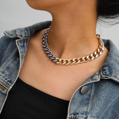 nouveau produit créatif tir de rue mixte couleur accessoires simple chaîne collier en gros nihaojewelry NHXR234257's discount tags