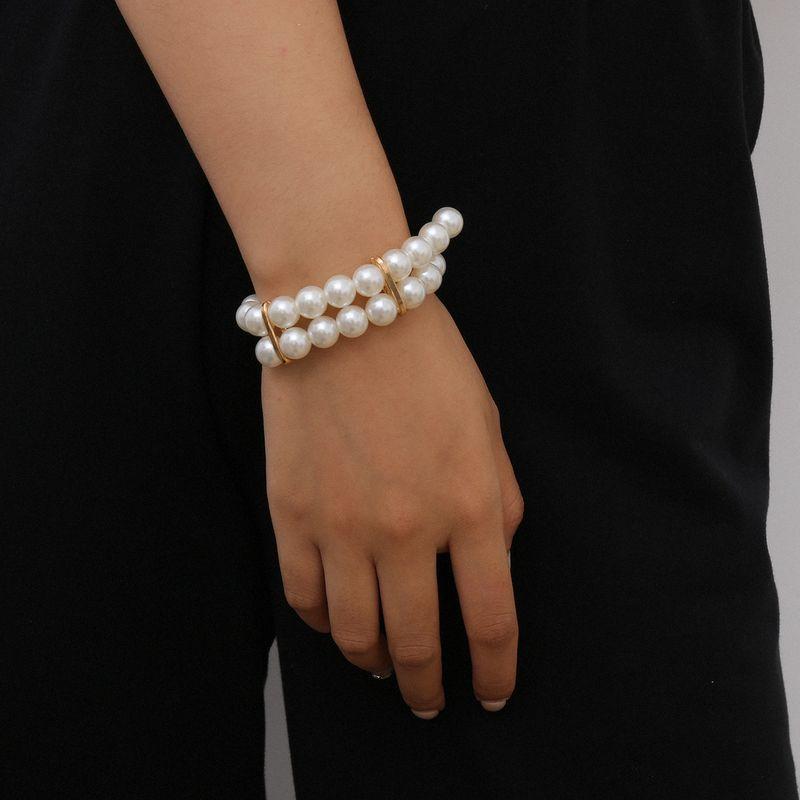 fashion jewelry imitation pearl multi-layer bracelet wholesale nihaojewelry NHXR234264