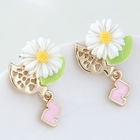 Boutique Korean fashion sweet and simple bird flower earrings wholesale nihaojewelry NHSC234296's discount tags