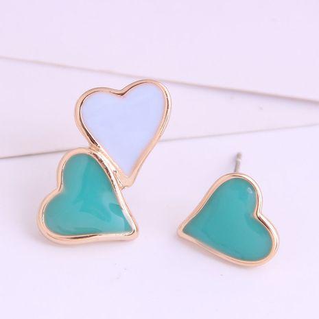 Boutique Korean fashion sweet OL hit color love asymmetric earrings wholesale nihaojewelry NHSC234294's discount tags