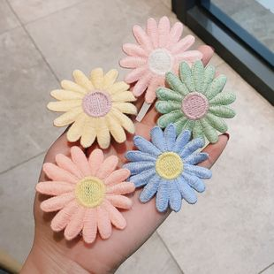 daisy hairpin knitted girl simple bangs clip back head clip broken hair clip wholesale nihaojewelry NHDQ234302's discount tags