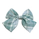 Girl plaid bow hairpin Korean super fairy uniform back head clip headdress wholesale nihaojewelry NHDQ234305