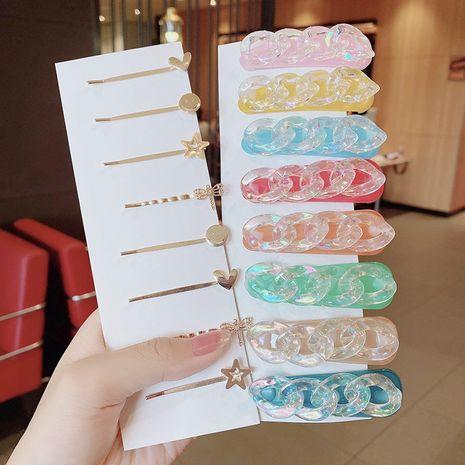 Super fée sirène en épingle à cheveux cristal sens chaîne en épingle à cheveux transparent côté clip frange clip coiffure en gros nihaojewelry NHNA234312's discount tags