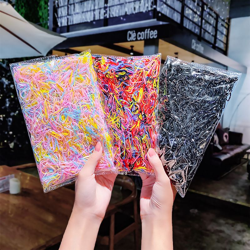 3000 pieces of Korean large circle disposable rubber band simple hair scrunchies hair accessories wholesale nihaojewelry NHNA234316