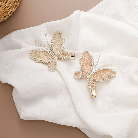 Fairy crystal butterfly hair clip simple broken hair clip duckbill clip wholesale nihaojewelry NHMS234333's discount tags