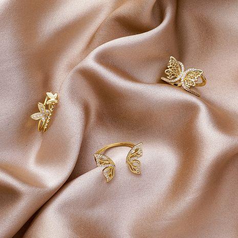 bague papillon mode rétro ouverture index bague en gros nihaojewelry NHMS234332's discount tags