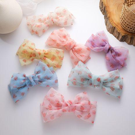 three-dimensional big bow hairpin children's sweet hairpin cute clip headdress Korean hair ornaments wholesale nihaojewelry NHMS234341's discount tags