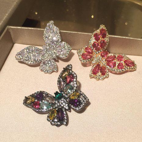 Pendientes de mariposa hueca exagerada elegante gente de moda S925 pendientes de aguja de plata al por mayor nihaojewelry NHWK234359's discount tags