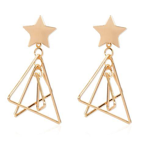 Bohemian retro alloy geometric gold earrings fashion earrings wholesale nihaojewelry NHCT234378's discount tags