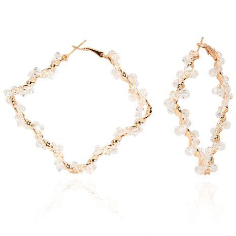 Pendientes de diamantes de aleación de moda exagerados simples pendientes de cristal de diamantes al por mayor nihaojewelry NHCT234381's discount tags