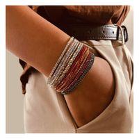 rhinestone multicolor pulsera elástica brillante pulsera simple joyería al por mayor nihaojewelry NHCT234383