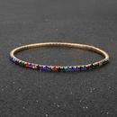 multicolor rhinestone elastic bracelet shiny simple bracelet jewelry wholesale nihaojewelry NHCT234383
