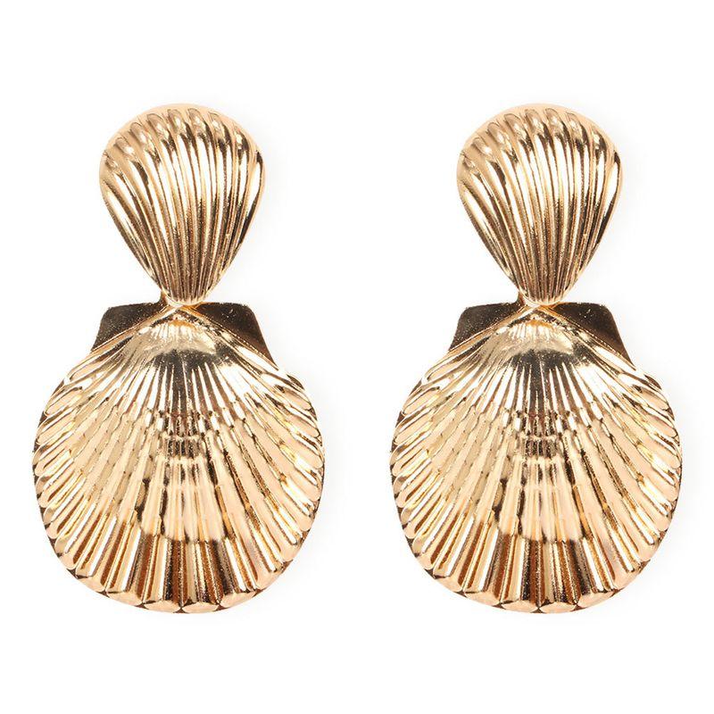 scallop earrings boho metal shell earrings wholesale nihaojewelry NHCT234386