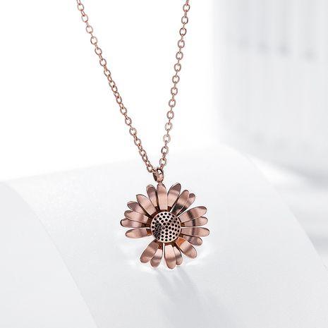Daisy Mode Collier Court Nouveau Titanium Acier Simple Sexy Élégant Clavicule Chaîne en gros nihaojewelry NHPP234425's discount tags