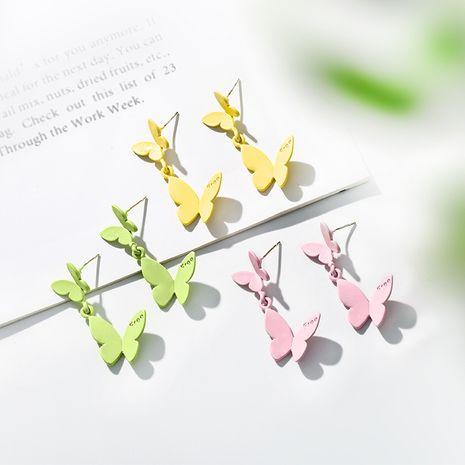 925 silver needle butterfly earrings Korean fashion simple ear jewelry wholesale nihaojewelry NHPP234444's discount tags
