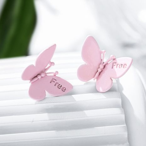 925 silver needle butterfly fashion earrings new sweet and small cute earrings wholesale nihaojewelry NHPP234445's discount tags