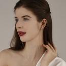925 silver needle butterfly long tassel fashion earrings new wave asymmetric earrings wholesale nihaojewelry NHPP234446