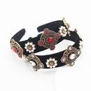 Baroque fashion heart full diamond pearl geometric headband hair accessories wholesale nihaojewelry NHWJ234463