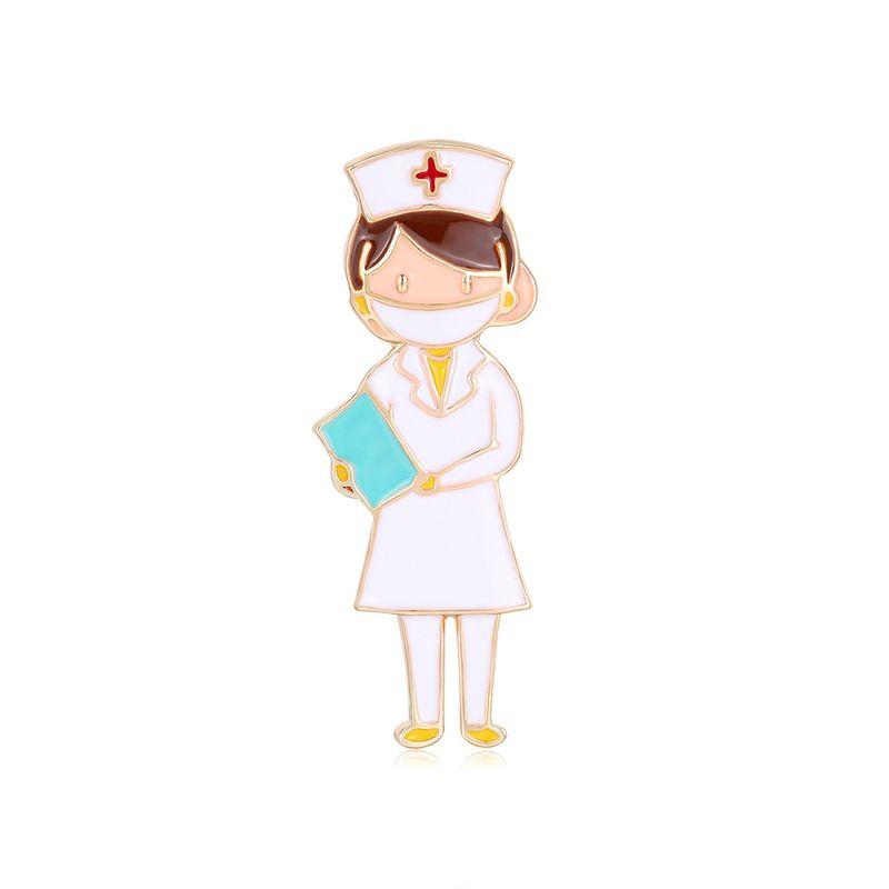 hot sale fashion corsage nurse girl oil drop brooch  wholesale nihaojewelry NHDR234484