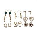 Korea 925 silver needle earrings ear clip natural cultured pearl shell earrings wholesale nihaojewelry NHOM234532