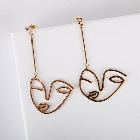 Nuevos pendientes S925 pendientes de aguja de plata cara larga pendientes simples al por mayor nihaojewelry NHQS234536's discount tags