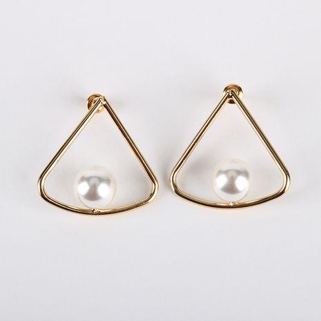 Nuevos pendientes de perlas exageradas 18 K chapado en oro real S925 pendientes de aguja de plata al por mayor nihaojewelry NHQS234539's discount tags