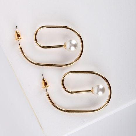 Nuevos pendientes populares S925 pendientes de aguja de plata chapado en oro real pendientes simples al por mayor nihaojewelry NHQS234538's discount tags