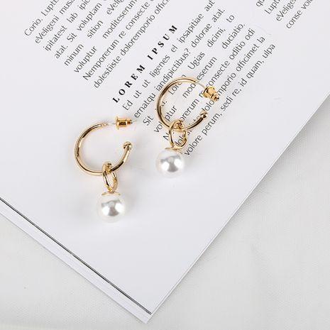 Nueva moda S925 pendientes de aguja de plata 18 K chapado en oro real pendientes simples al por mayor nihaojewelry NHQS234540's discount tags