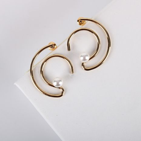 Nuevos pendientes de aguja de plata 925 geométricos populares de moda 18 K pendientes de galvanoplastia de oro real al por mayor nihaojewelry NHQS234541's discount tags