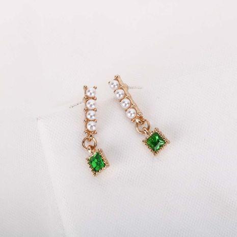new Korean earrings S925 silver needle pearl crystal earrings wholesale nihaojewelry NHQS234560's discount tags