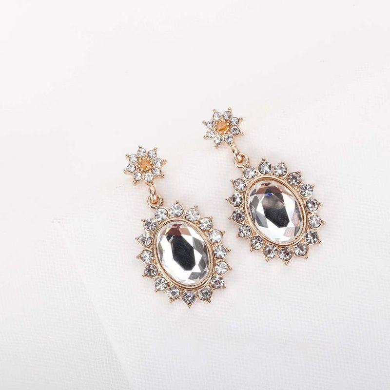 new popular Korean jewelry S925 silver needle crystal earrings stud earrings wholesale nihaojewelry NHQS234561